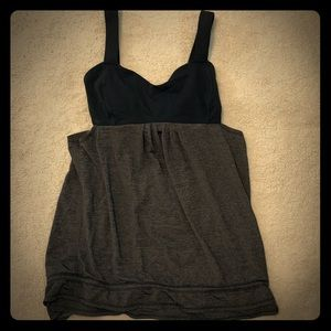 Lululemon Athletica Black And Gray Tank top size 6
